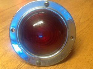 Early Travel Trailer Light K d 519 Red Glass Lens Vintage Clearance Lamp