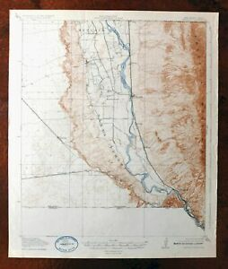 Canutillo New Mexico Texas Vintage Usgs Topo Map 1919 El Paso Anthony