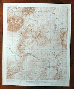 1937 Capitan New Mexico Vintage Usgs Topographic Map North Of Ruidoso Topo