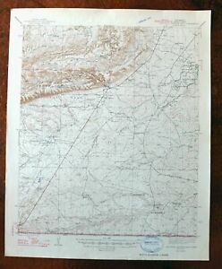 1947 Carlsbad Caverns East New Mexico Vintage Usgs Topographic Map