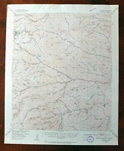 Cloudcroft New Mexico Vintage Original Usgs Topo Map 1952 Weed Topographic