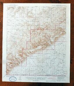 1943 Carlsbad Caverns West New Mexico Vintage Usgs Topo Map