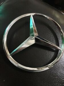 Mercedes Benz Star Chrome Emblem Symbol Badge Oem New Genuine