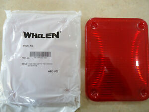 Two Whelen Series 900 Red Lens 68 1984100 500 68 1183542 50