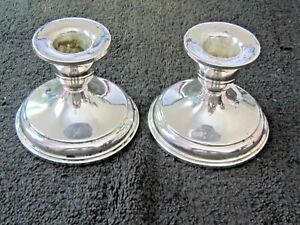 Vintage Otto Reichardt Sterling Silver Candle Holders Estate Find No Reserve