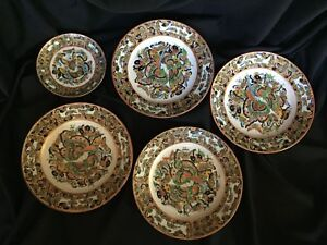 Chinese Export Famille Rose Butterflies Plates