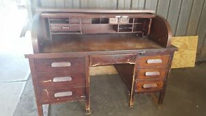 Antique Roll Top Desk By Clemco 2 In 1