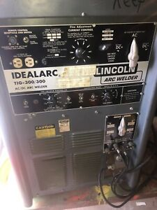 Lincoln Ideal Arc Model Tig 300 300 Ac dc 208 230 460v 1ph Arc Welder