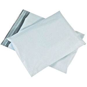 Poly Mailer Bags Tamper proof Shipping Envelopes 2 5mil Opaque White Mailing