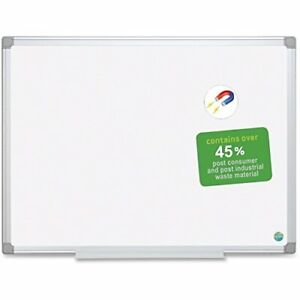Mastervision Easyclean Dry erase Board 36 Width X 48 Height White Aluminum
