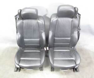 2001 2006 Bmw E46 M3 Convertible Front Sports Seats Black Nappa Leather Heat Oem
