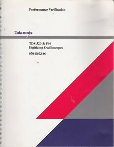 Tektronix Tds520 Tds540 Performance Verification Manual Digitizing Oscilloscope