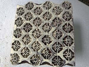 Vintage Hand Carved Wood Block Stamps Fabric Prints Tools B12 Aged Early India