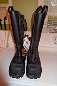 New Thorogood Waterproof Women s Firefighter Bunker Boots 14 Stables Mines 280