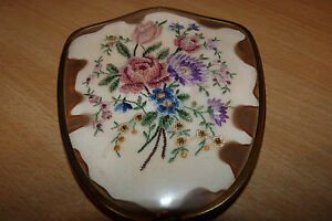 Vintage Dressing Mirror Embroidered Flowers Lovely Item Look