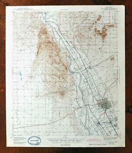1943 Las Cruces New Mexico Vintage Usgs Topo Map Mesilla Do A Ana Fairacres