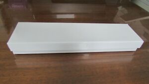 White Jewelry Gift Boxes 7x5 1 2x1 With Cotton Nib