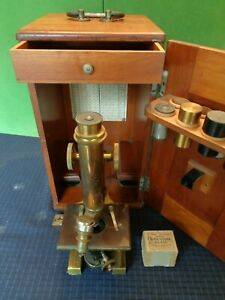 Antique Bausch Lomb Opticle Microscope 22527