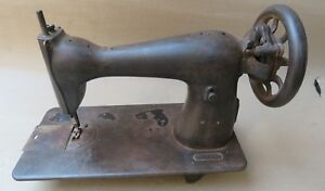 Antique Salvaged Hand Cranked Non Working Sewing Machine Part Display
