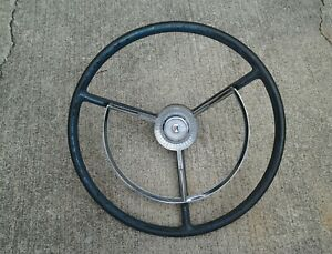 1956 57 Ford Fairlane Thunderbird Victoria Steering Wheel Horn Ring Fdr 3624 b