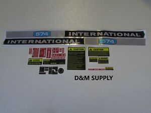 International Ih 574 Tractor Decal Set Stickers