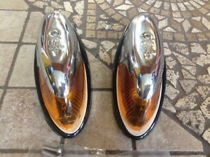 New Old Stock Pair Amber Clearance Lamp Pm 112 Marker Light Vintage Truck Cab