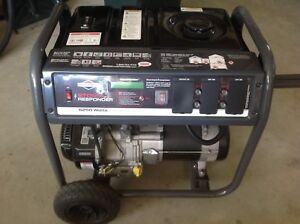 Briggs And Straton 2100 Gas Powered Generator new Storm Responder 6250 Watts