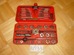 Snap on Tools Automotive Metric Tap Die Set In Red Case 41 Piece Tdm117a