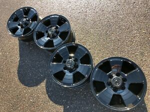 17 Toyota 4runner Tacoma Fj Tundra Sport Oem Factory Stock Wheels Rims Black