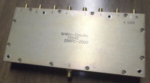 Mini Circuits Zb8pd 2000 Power Splitter Combiner Sma 8 way 2 Ghz Used 15542 Rf