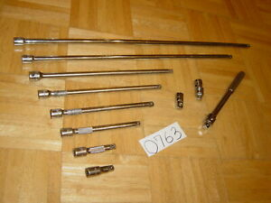 Matco Tools 11 Pc 3 8 Dr Extensions To 24in Adaptor Swivel And A Breaker Bar
