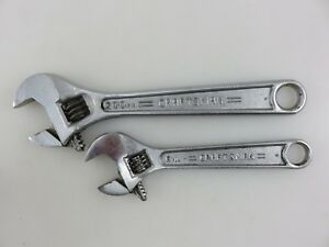 Craftsman 44602 44603 6 8 Adjustable Wrench 2pc Set Forged In Usa