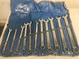 Vintage Armstrong Bros 11 Piece Wrench Set 3 8 1
