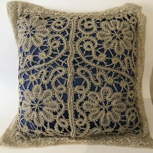 Antique Normandy Lace Pillow 19x19