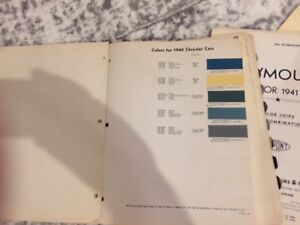 Chrysler dodge plymouth desoto paint Chips Set 1940 1953
