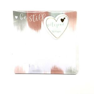 Note Pad Be Still Office School Memo Flag 50 Pages Watercolor
