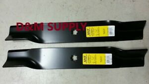 Set Of 2 Heavy Duty John Deere 38 Mower Blades M153118 M84472 M112991 M82408
