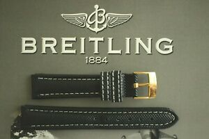 18MM BLACK PLONGEUR DIVER TONGUE BUCKLE WATCH BAND WATCHBAND STRAP FOR BREITLING $134.99