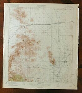 1919 Pratt New Mexico Historical Antique Usgs Topo Map Animas Peloncillo Mts