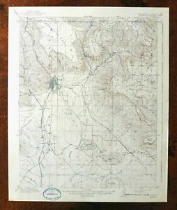 Raton New Mexico Colorado Vintage Usgs Topographic Map 1914 15 Minute Yankee