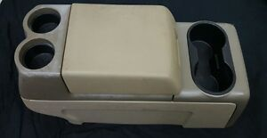 2004 2008 Ford F 150 Tan Brown Center Floor Console Armrest Cup Holder 04 05 06