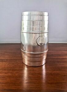 Large Concord Shreve Crump Low Sterling Silver Vase Whiskey Barrel Shape