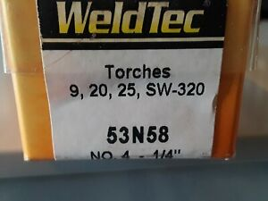 Weldtec 53n58 No 4 1 4 Nozzle Cup package Of 10