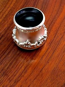 Shiebler For Shreve Crump Low Sterling Silver Ink Pot No Monograms Pristine
