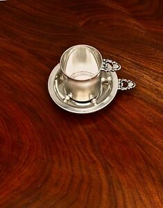 Sophisticated Hunt Silver Co Matching Tastevin And Whisky Cup No Monograms