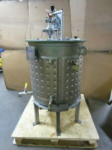 2012 Bendel 78 Gal Gallon 304 Stainless Jacketed Pneumatic Air Mixing Tank