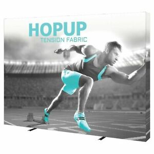 10ft Hopup Straight 4x3 Trade Show Display With Front Graphic Endcap Included