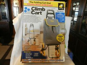 Climb Cart Stair Climbing Folding Utility Trolley With Jumbo Carry Bag