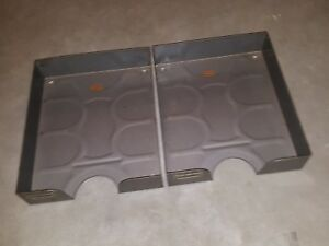 Vintage Weis Industrial Gray Metal Trays