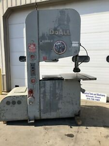 Doall Zw 3620 Vertical Bandsaw Variable Speed 70 15000 Fpm Friction 36